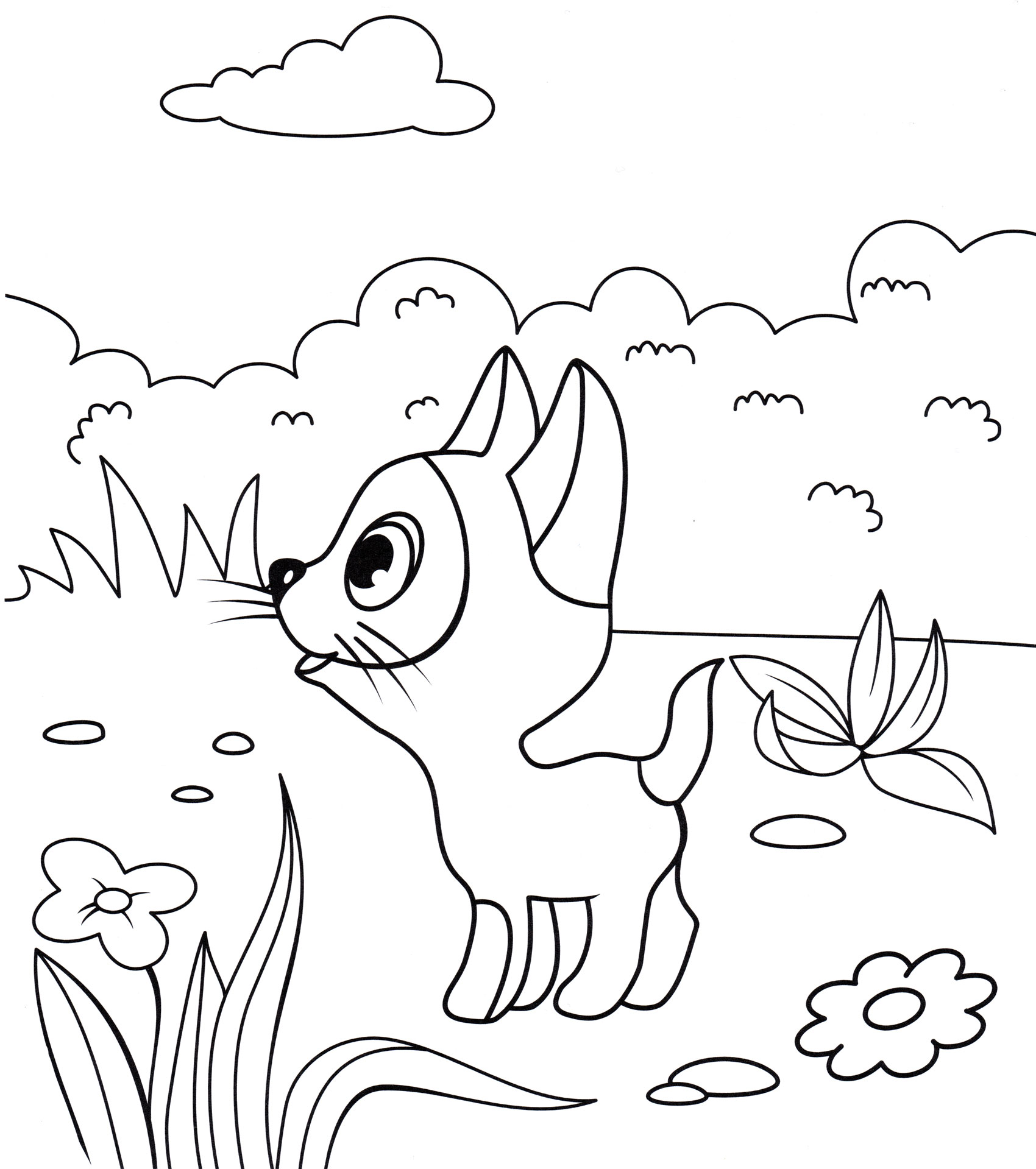 белоснежную картинки котенка гав карандашом это