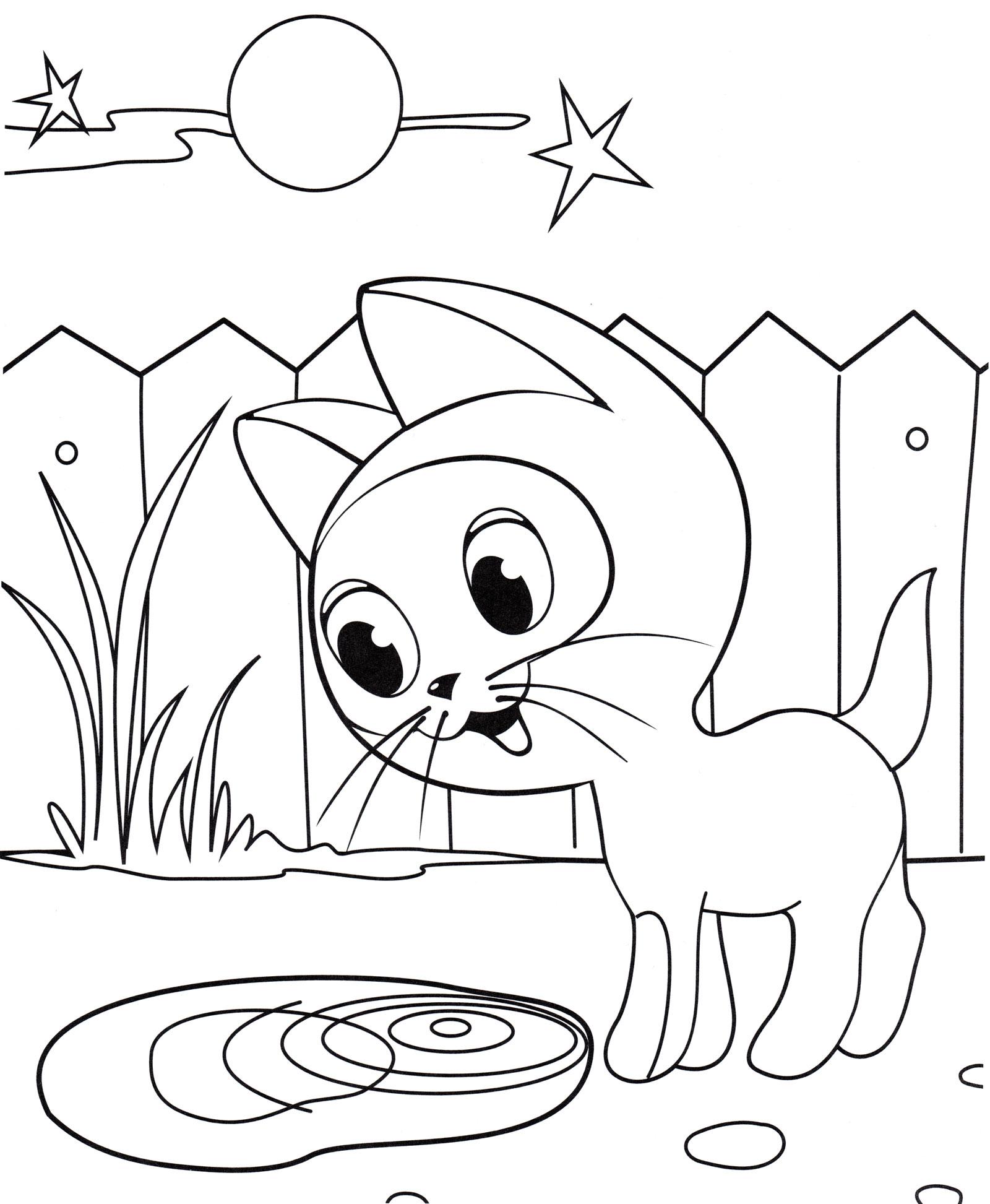 Картинки котенка гав карандашом