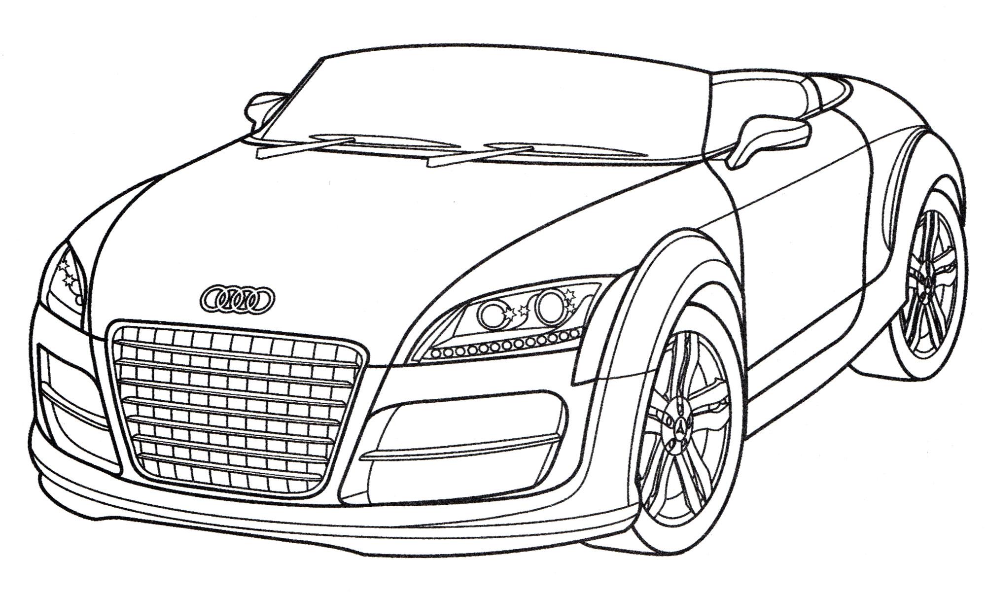 раскраска Audi Tt распечатать бесплатно