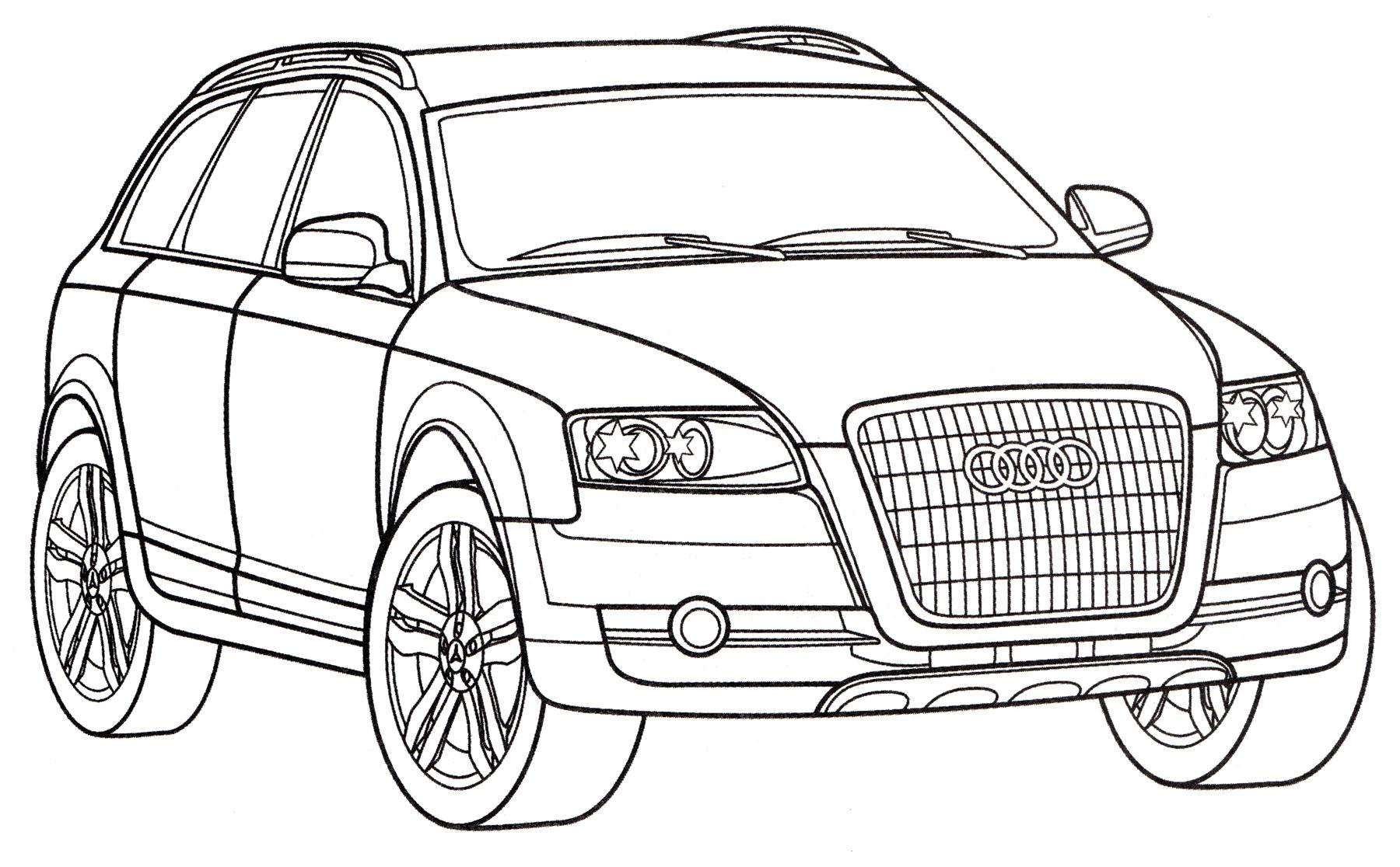 раскраска Audi A4 Allroad Quattro распечатать бесплатно