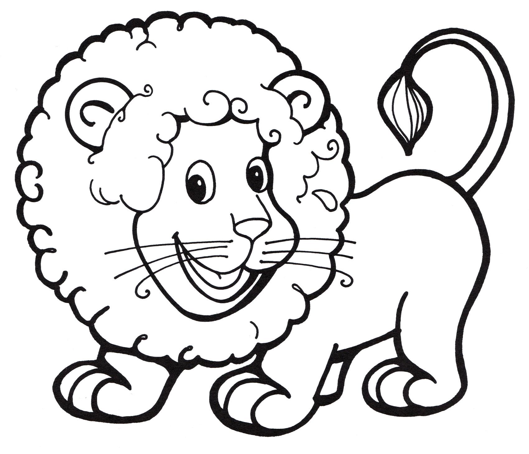 раскраска игривый львенок распечатать бесплатно
