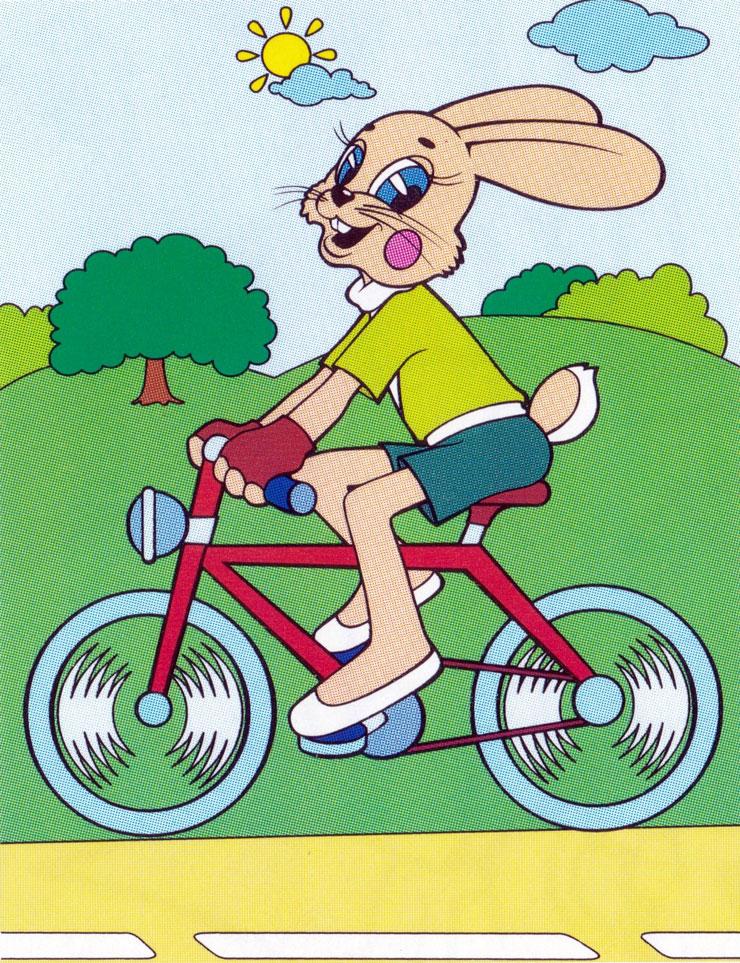 Раскраска Заяц на велосипеде | Раскраски Ну погоди