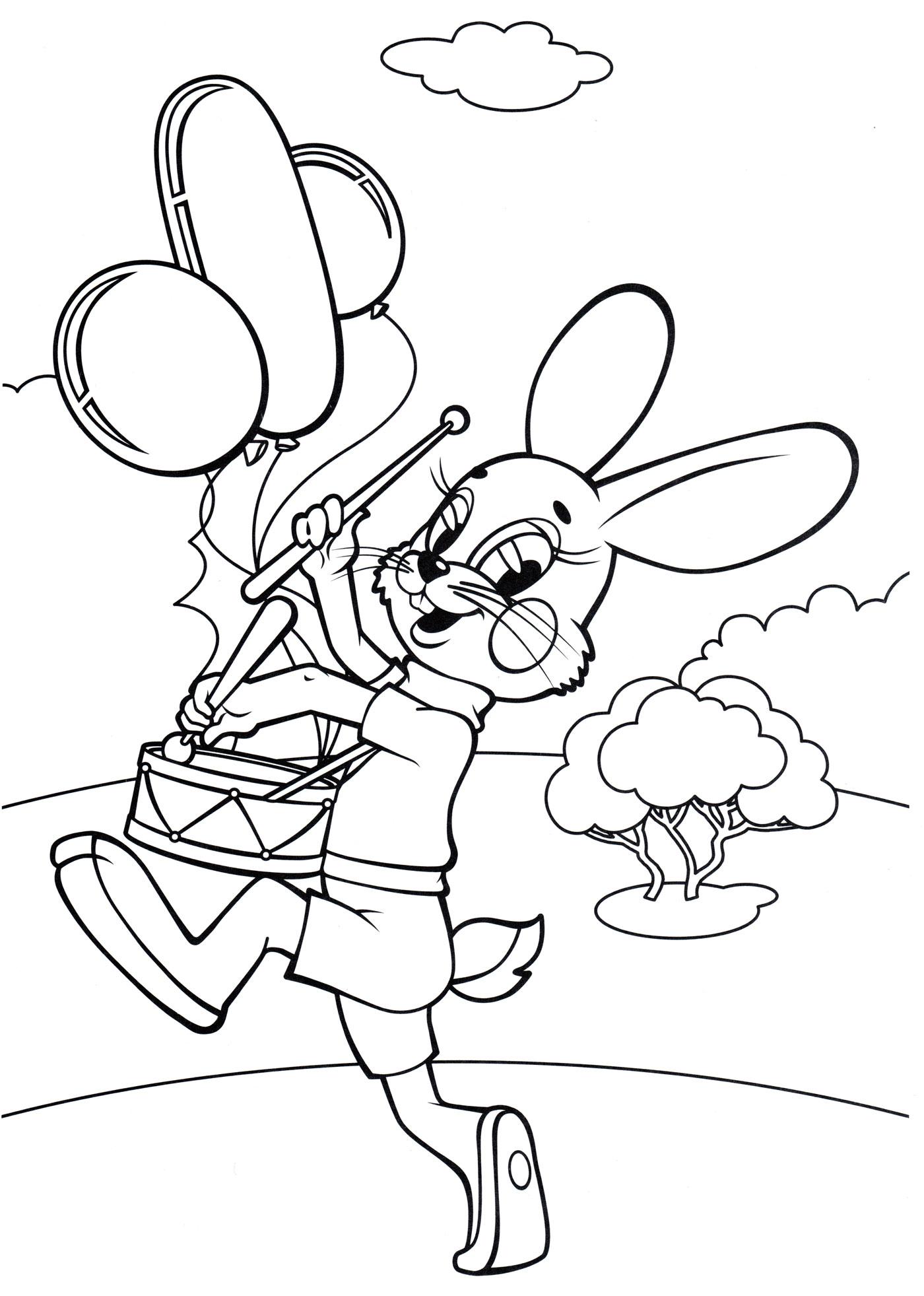 Заяц из ну погоди раскраска