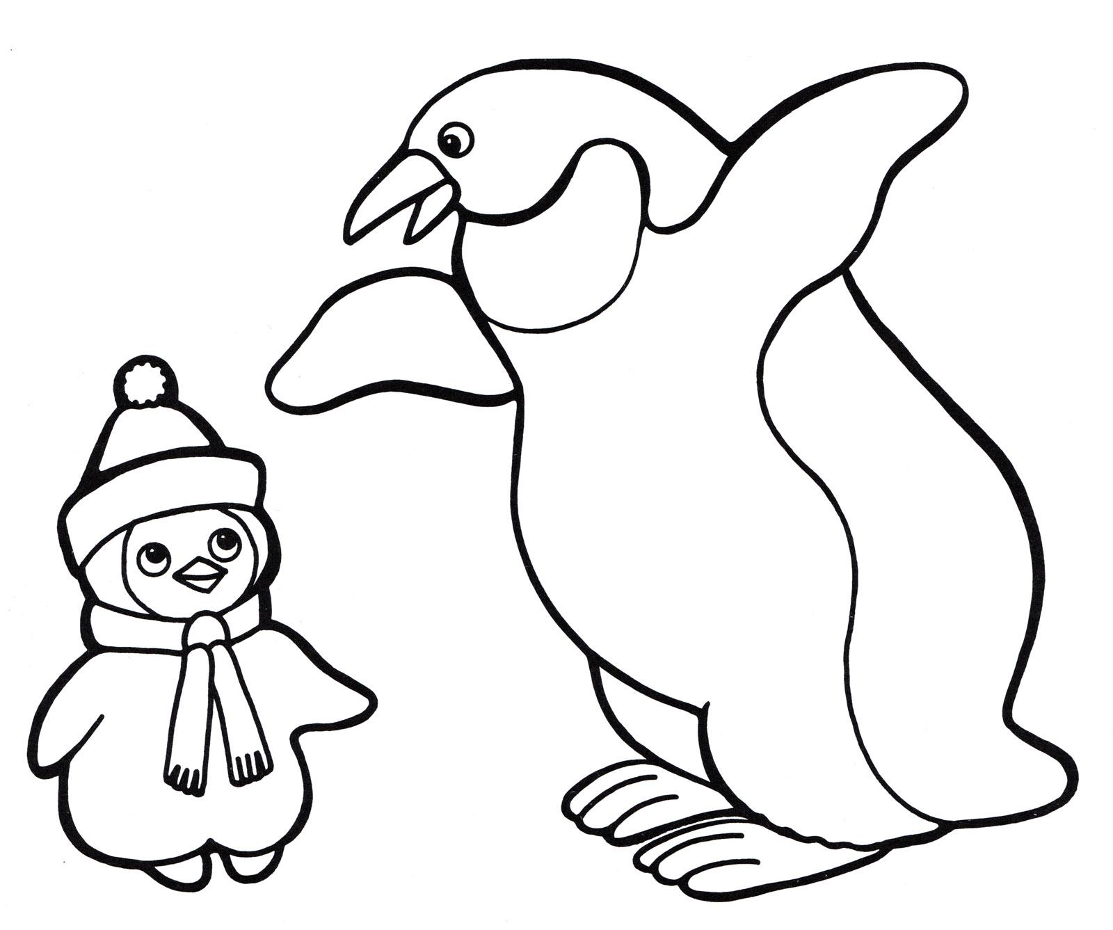 Картинки пингвина для раскрашивания