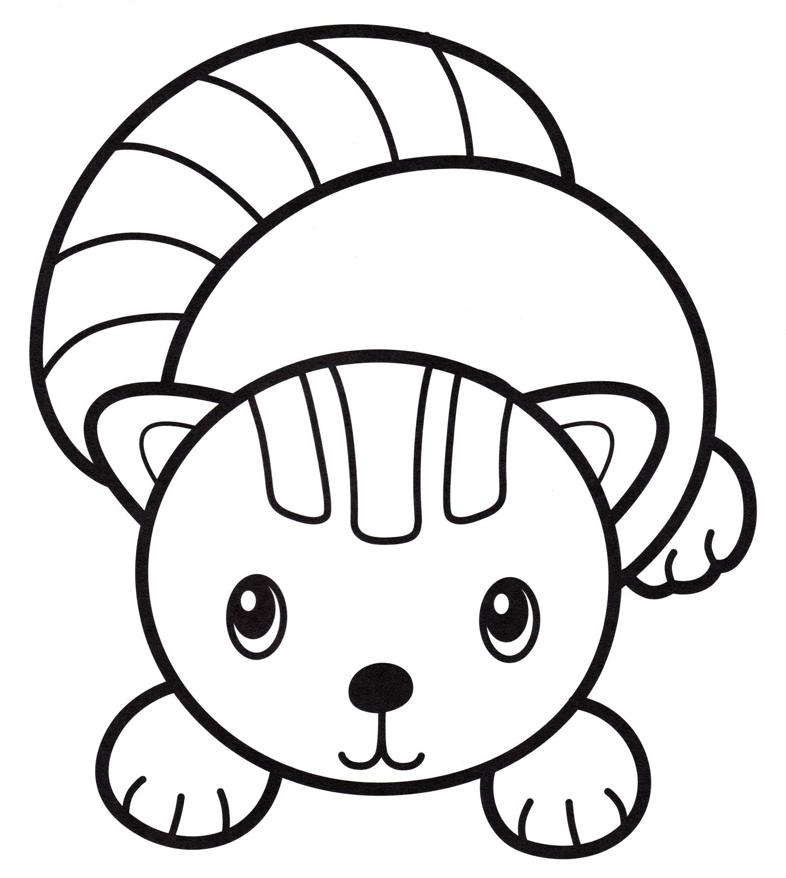 Раскраска Маленький котик - распечатать бесплатно