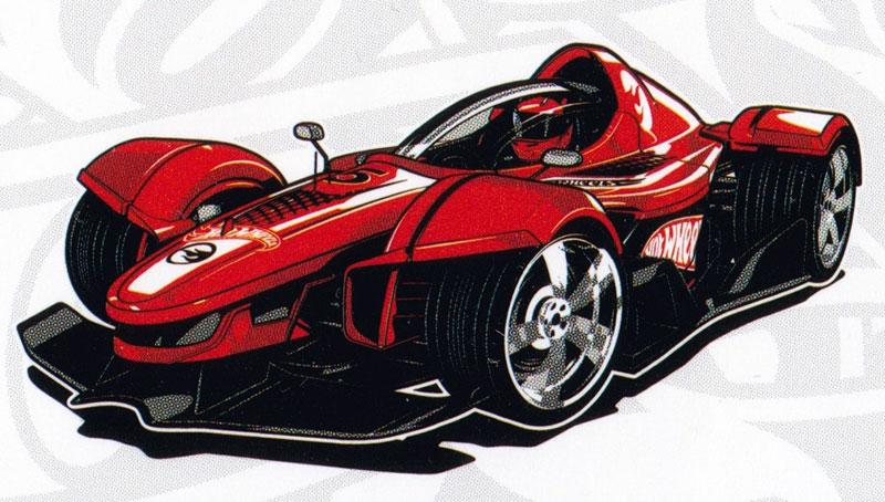 Раскраска Машина Хот Вилс на финише - распечатать бесплатно