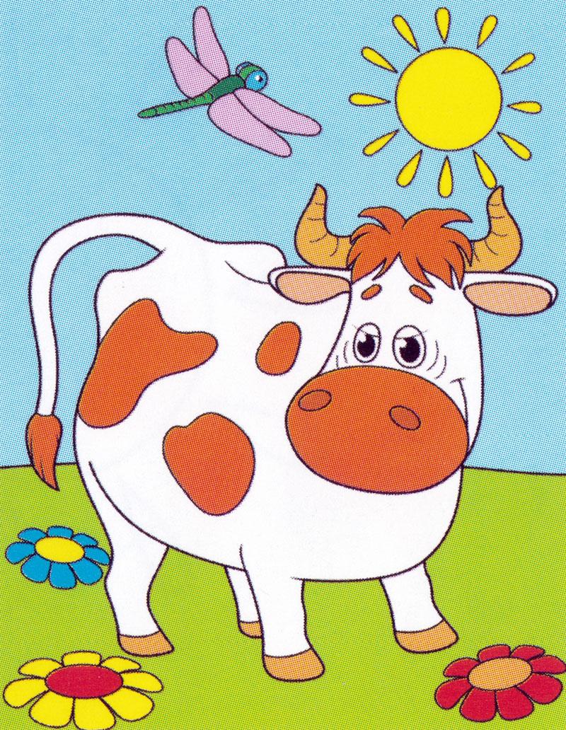 Раскраска Корова Матроскина | Раскраски Простоквашино