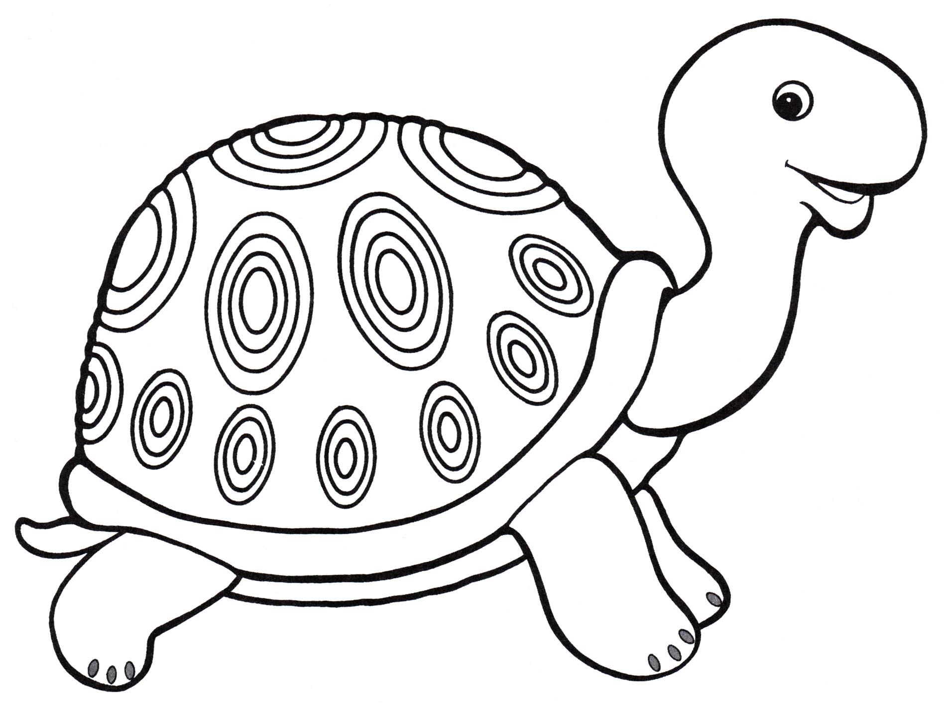 Раскраска Добрая черепаха - распечатать бесплатно