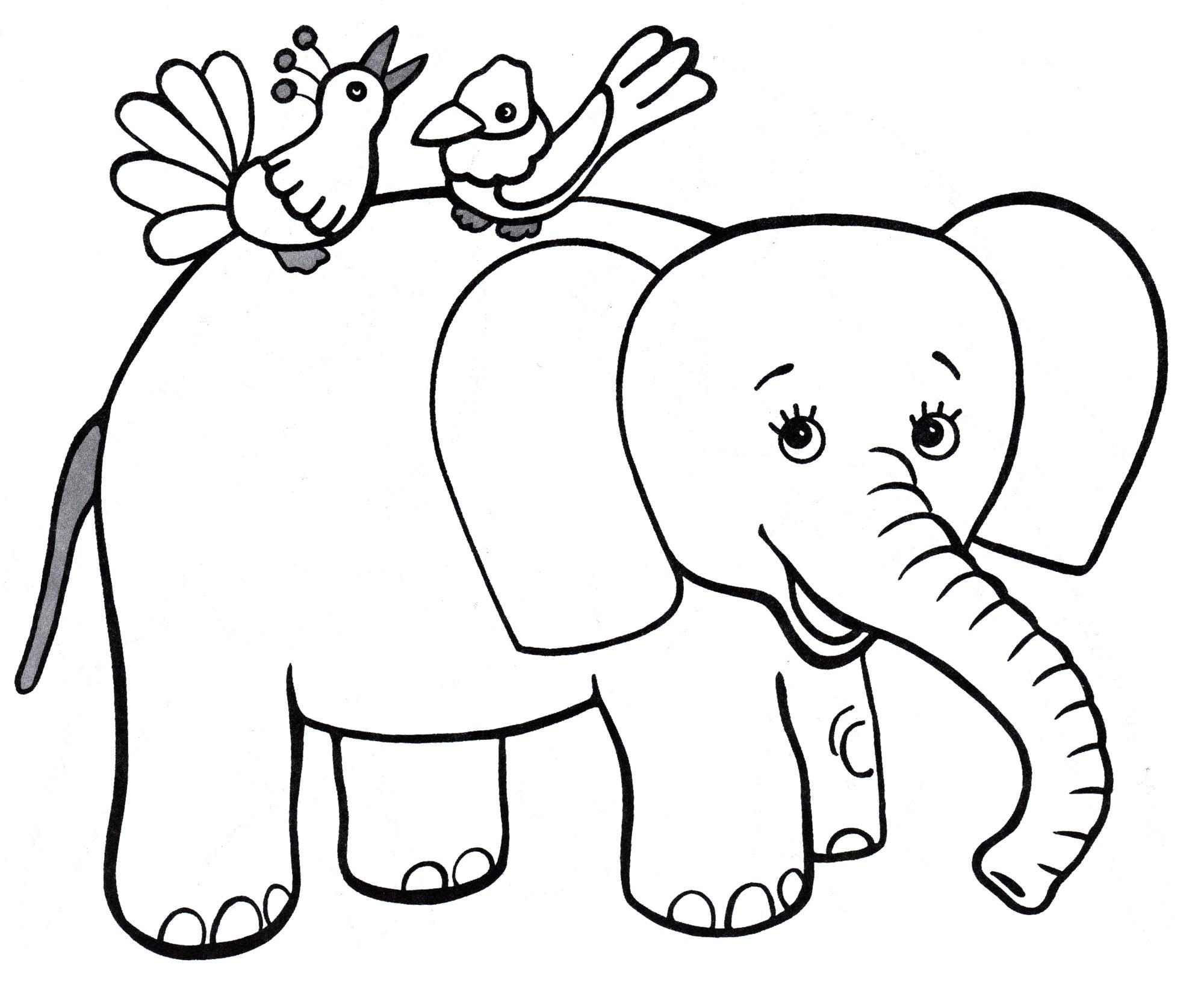 Раскраска слоники распечатать картинки объятия