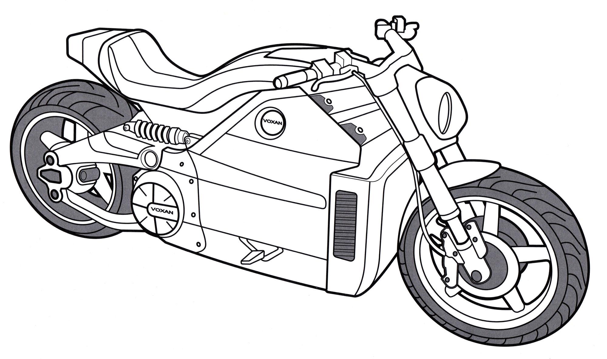 Картинки мотоцикл для детей раскраски