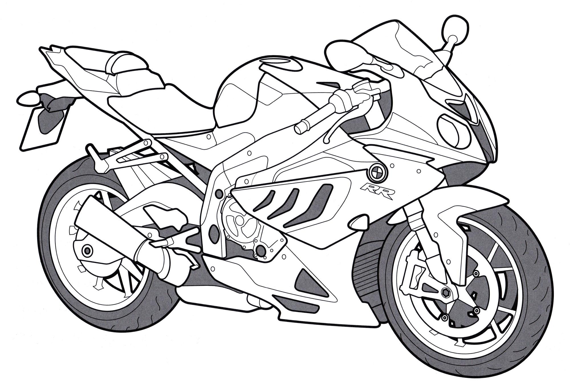 Раскраска BMW S1000 RR | Раскраски мотоциклы