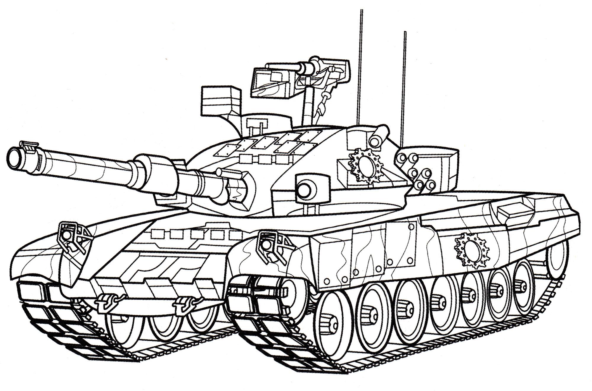 раскраска танк т90 распечатать бесплатно