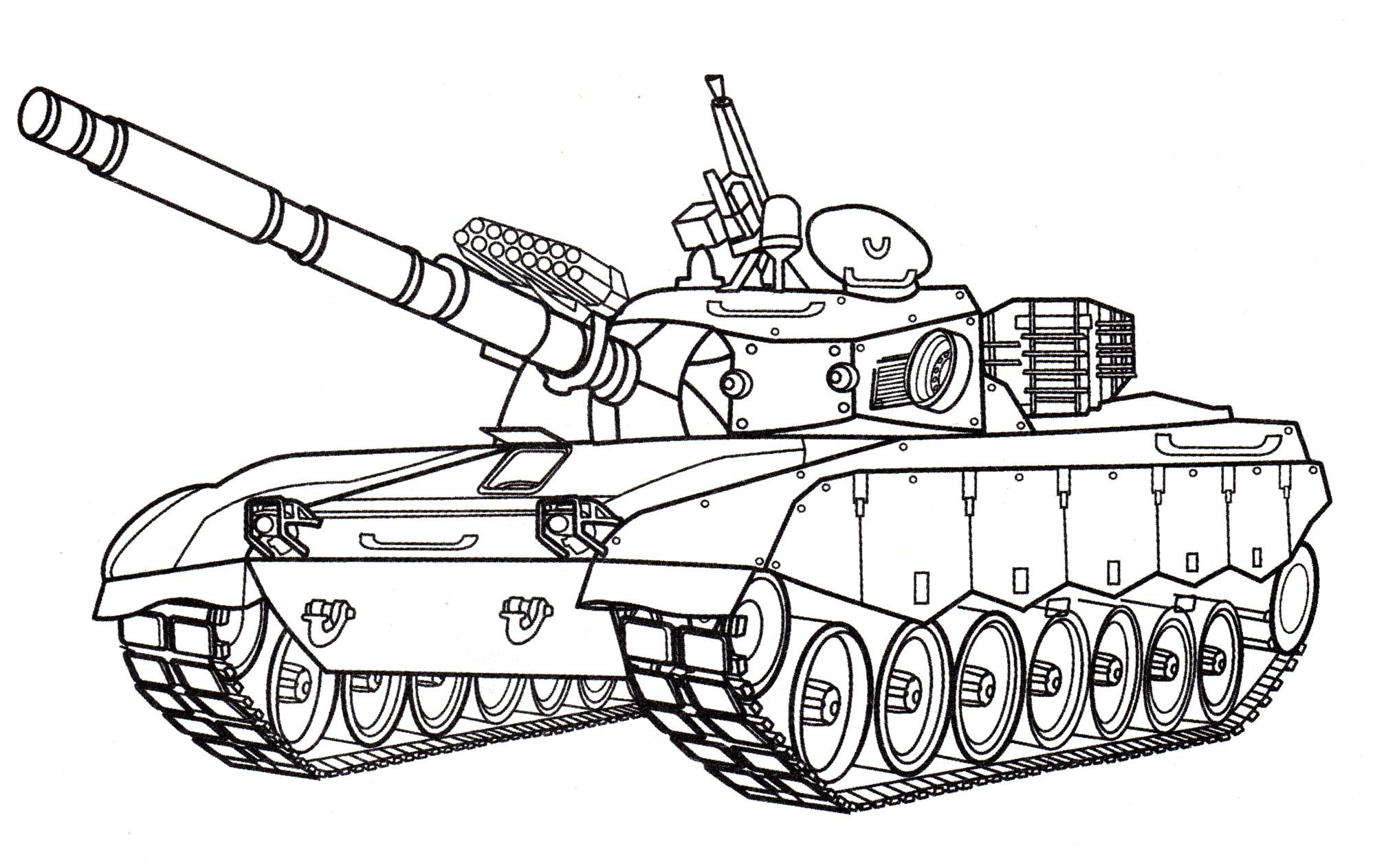 раскраска танк T 85 распечатать бесплатно