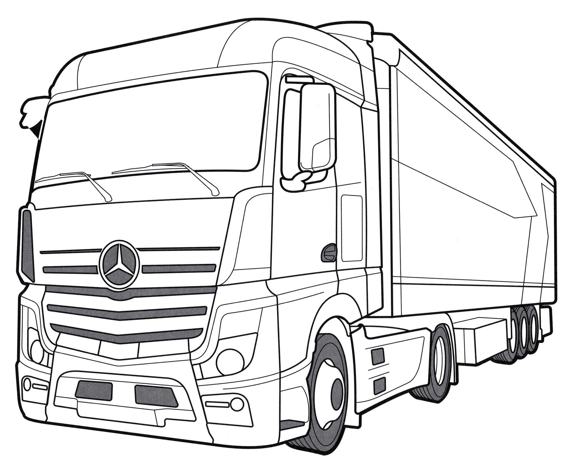 Раскраска Mersedes-Benz Actros IV | Раскраски Грузовики