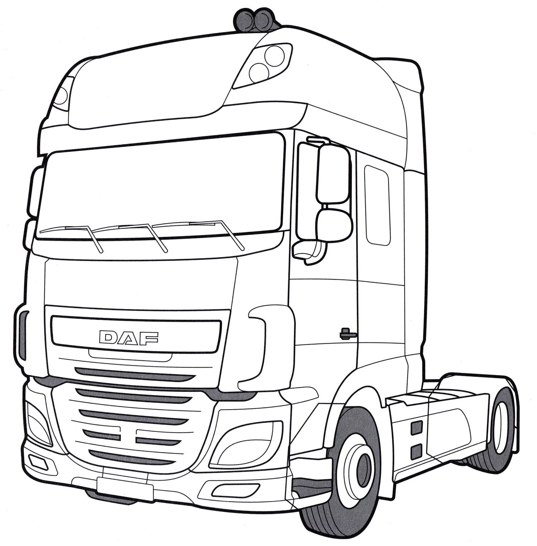 раскраска Daf Xf раскраски грузовики