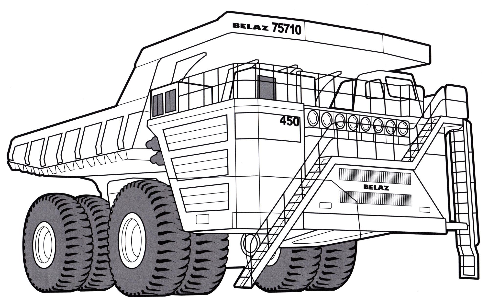 Раскраска БелАЗ-75710 | Раскраски Грузовики