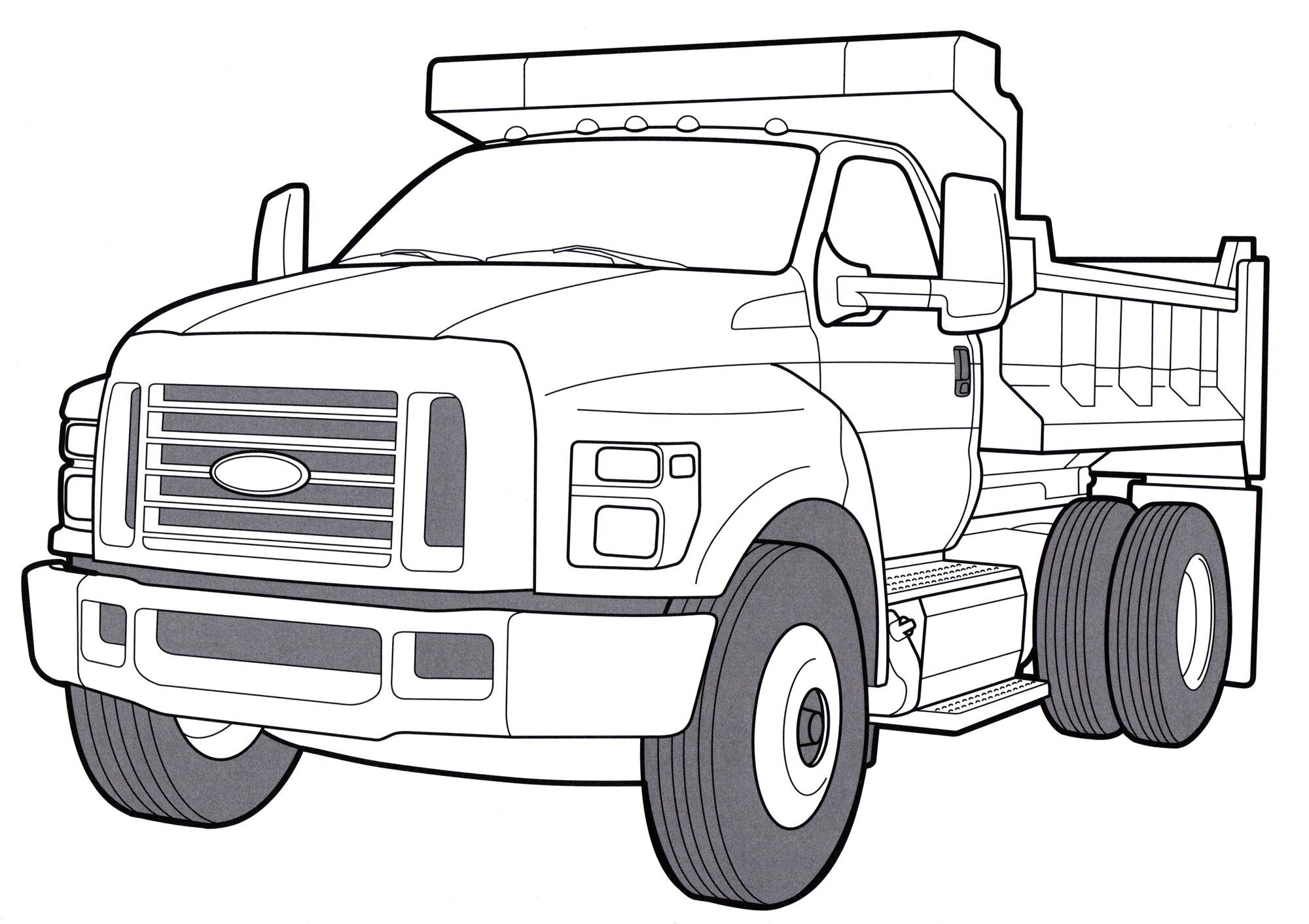 раскраска Ford F 750 Tonka раскраски грузовики