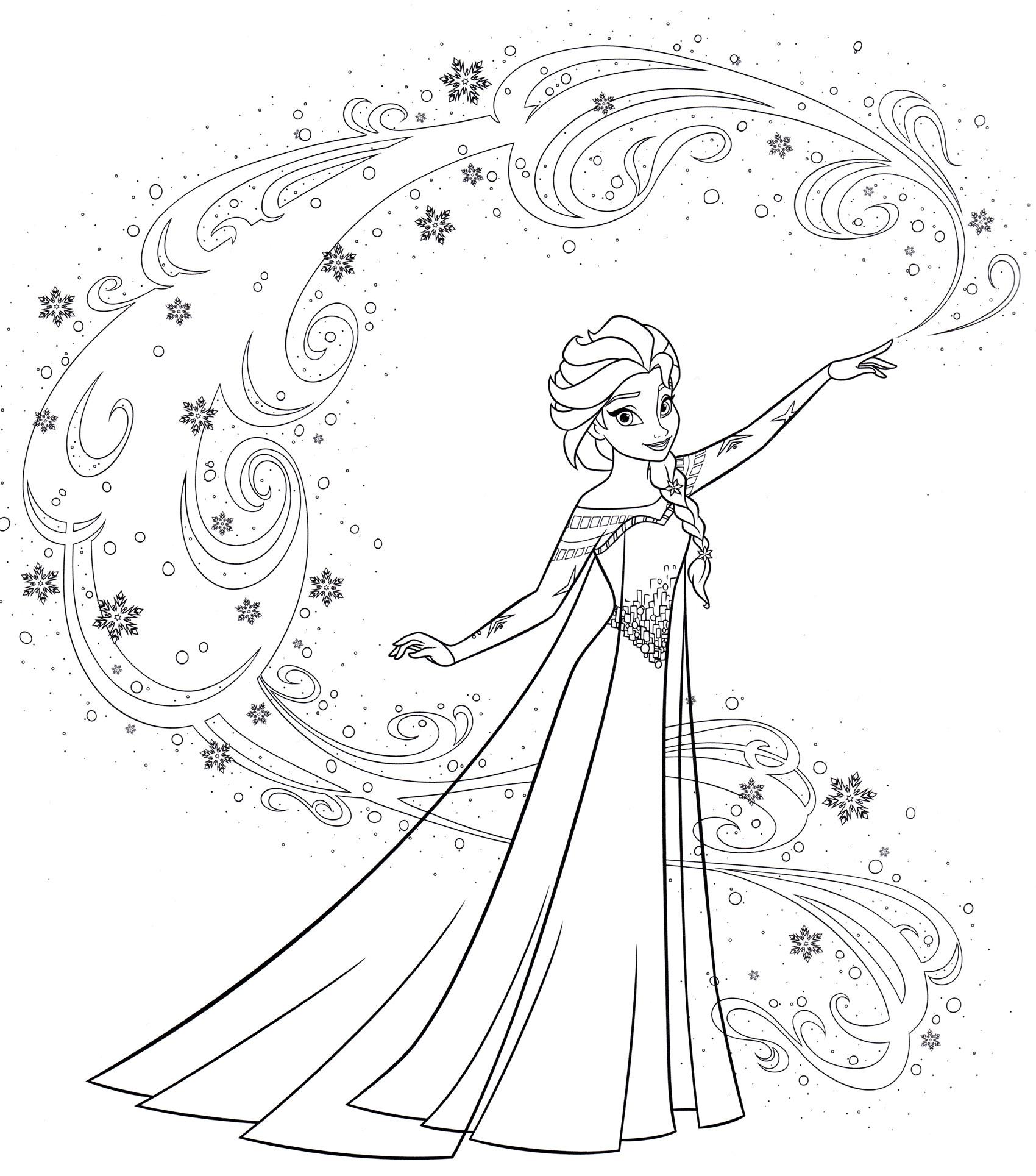 Раскраска Эльза и ее магия | Раскраски Холодное сердце