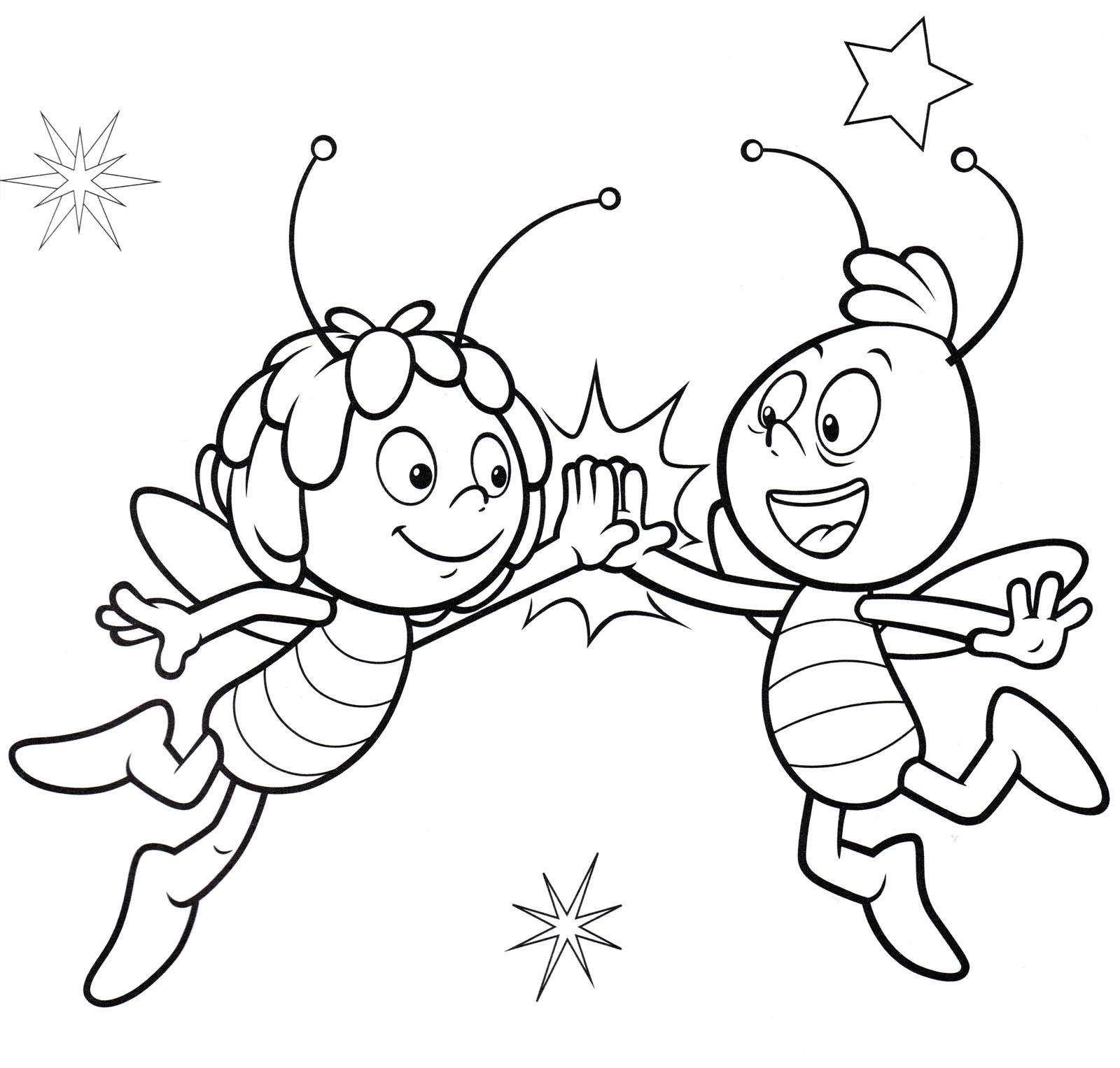 Раскраска Пчелки друзья | Раскраски Пчелка Майя