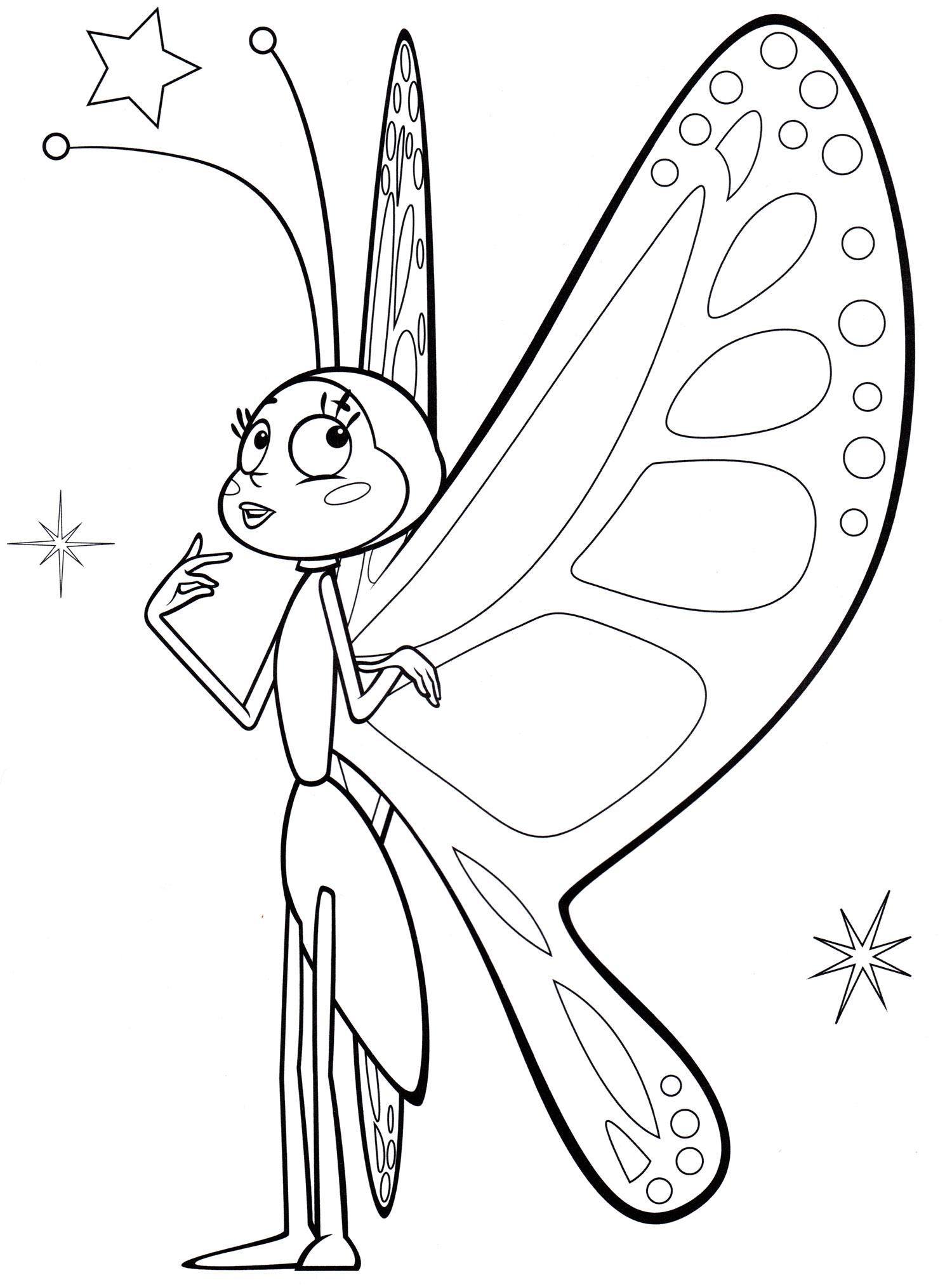 раскраска бабочка беатрис раскраски пчелка майя