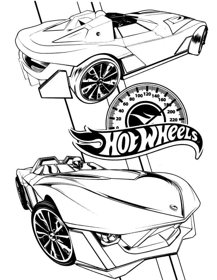 Раскраска Гоночная машина Хот Вилс - распечатать бесплатно