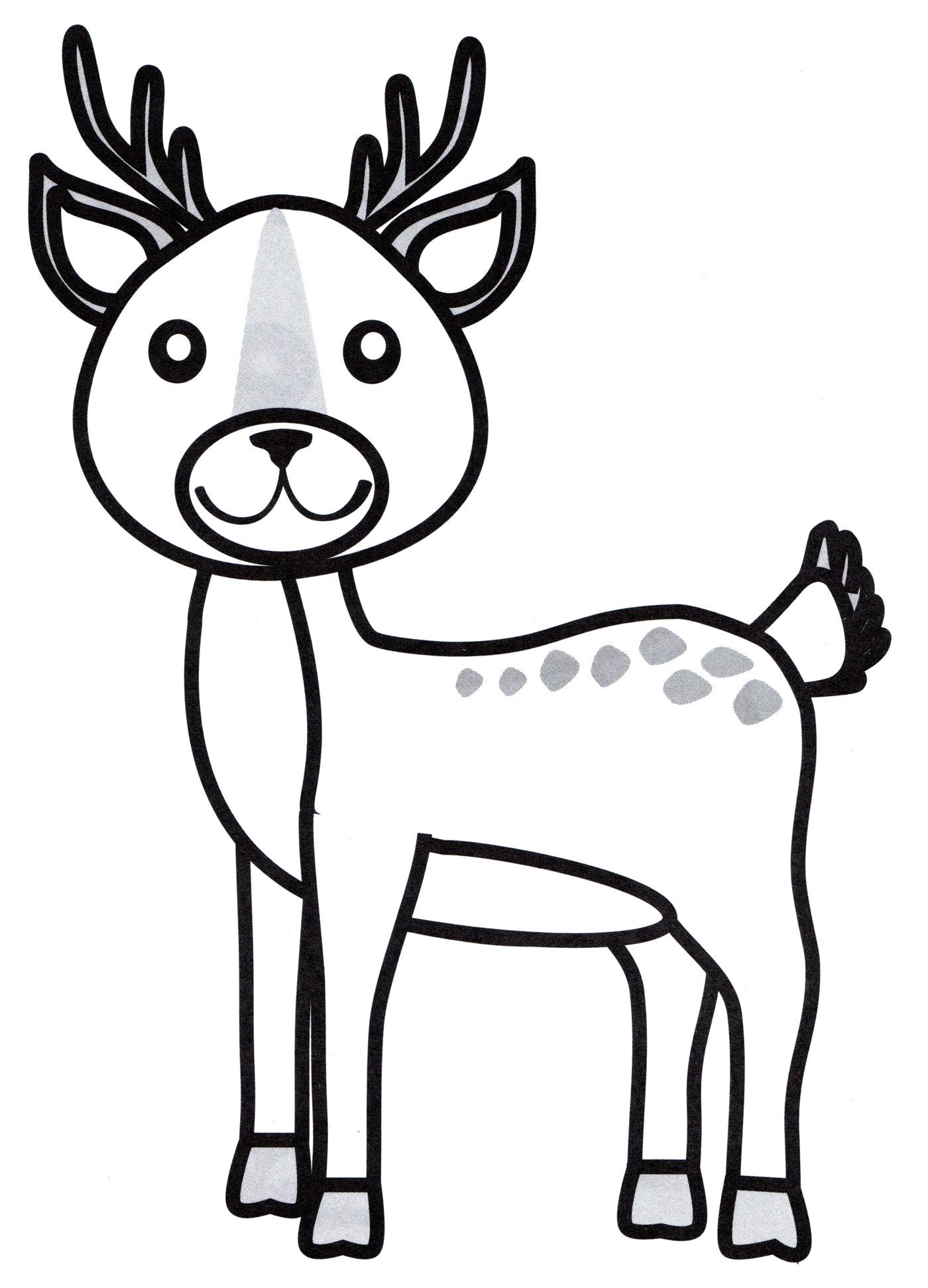 Раскраска Милый олень - распечатать бесплатно