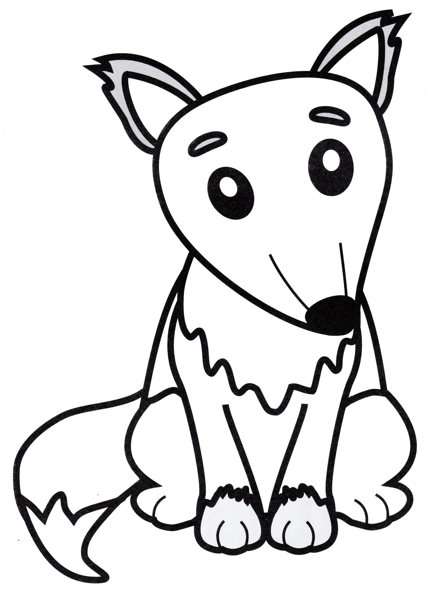 Раскраска Маленькая лиса - распечатать бесплатно