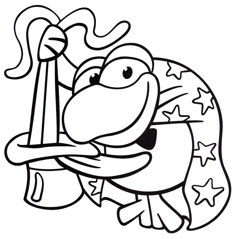 Раскраска Кар-Карыч фокусник | Раскраски со Смешариками