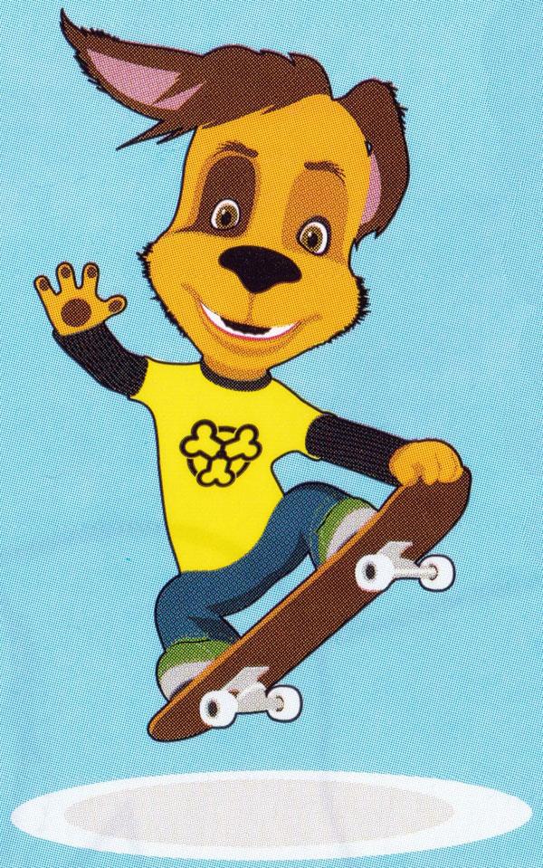 Раскраска Дружок на скейте | Раскраски Барбоскины
