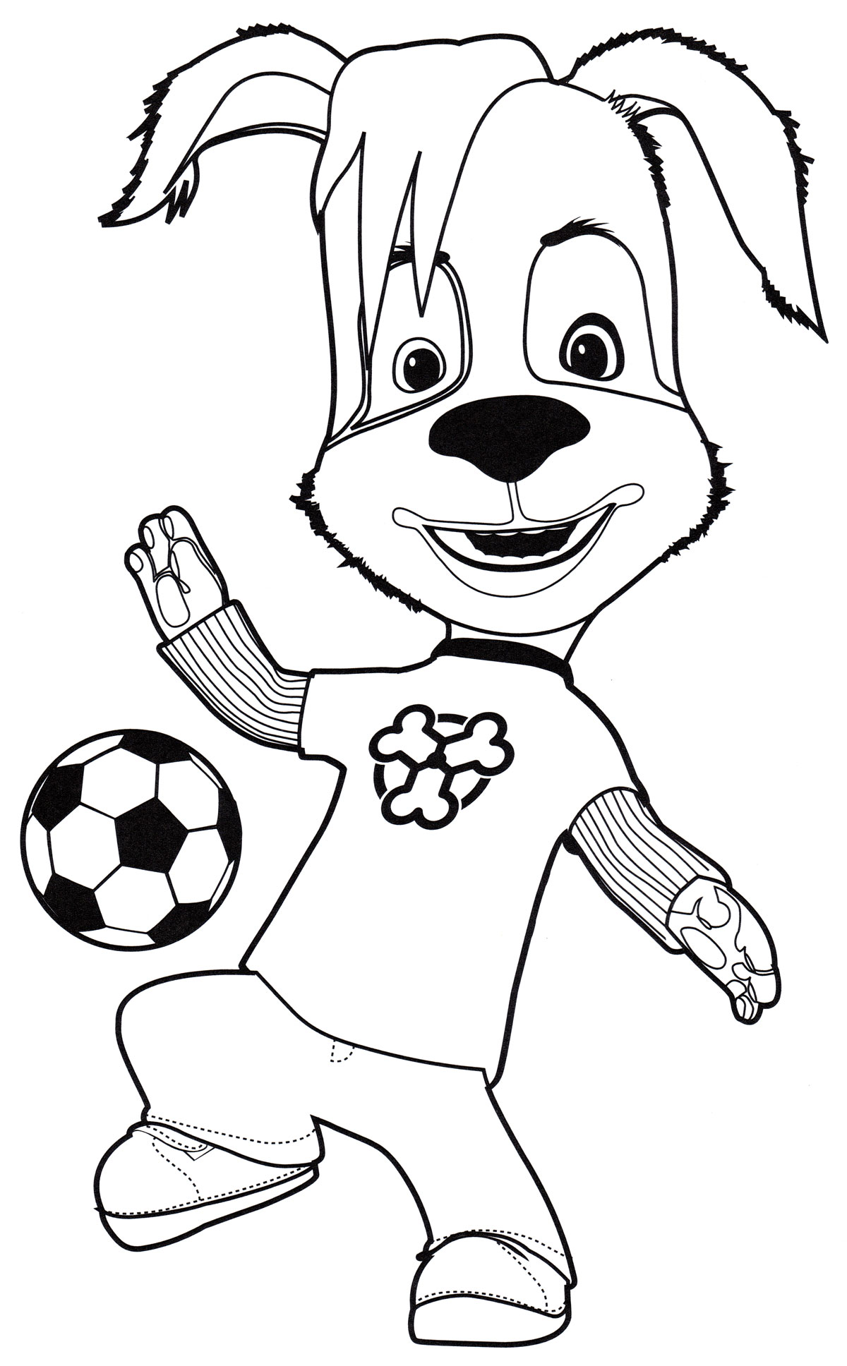 Раскраска Дружок с мячом | Раскраски Барбоскины