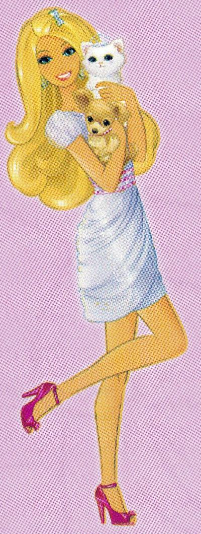 Раскраска Барби и ее питомцы - распечатать бесплатно
