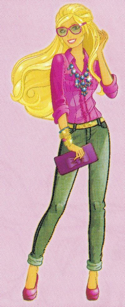 Раскраска Барби в элегантных очках - распечатать бесплатно