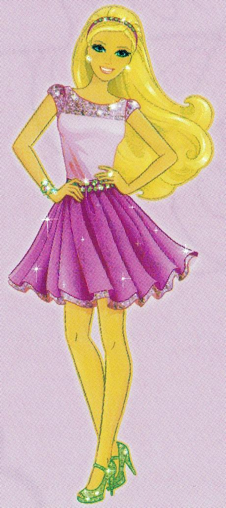 Раскраска Барби в платье и босоножках - распечатать бесплатно