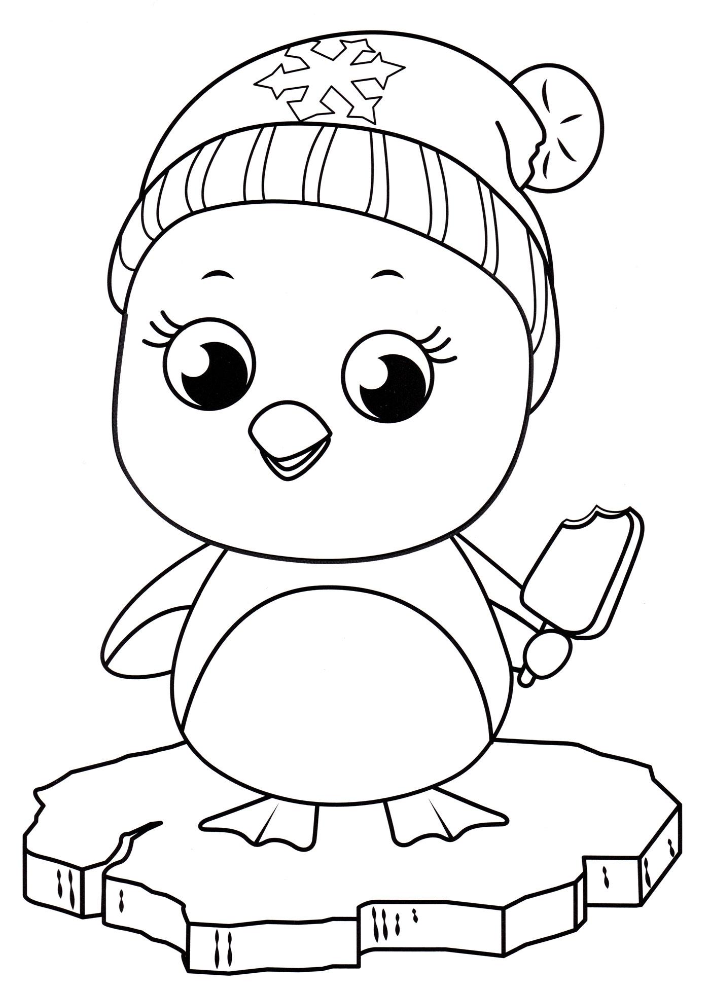 Раскраска Пингвин на льдине - распечатать бесплатно