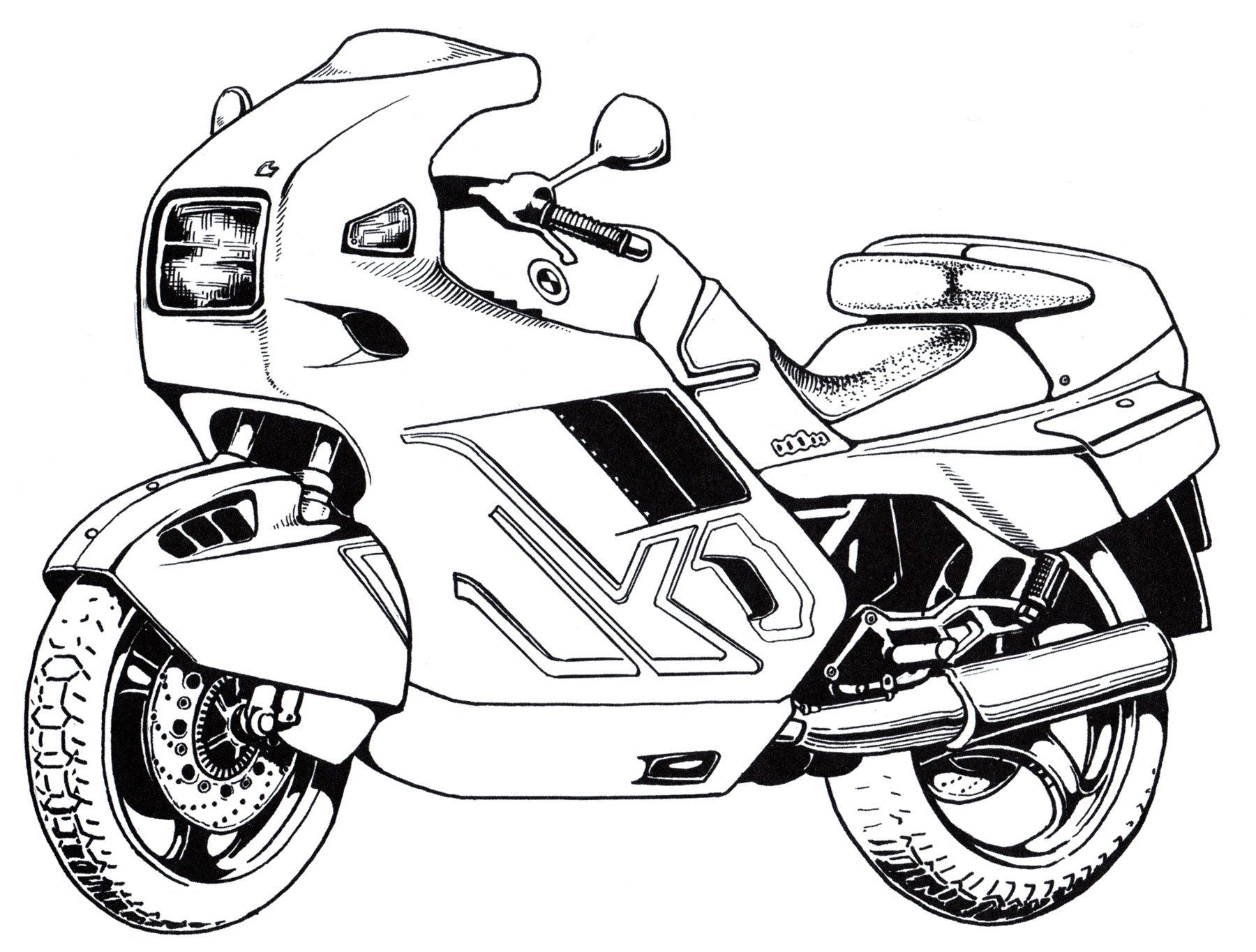 Раскраска Мотоцикл BMW | Раскраски мотоциклы