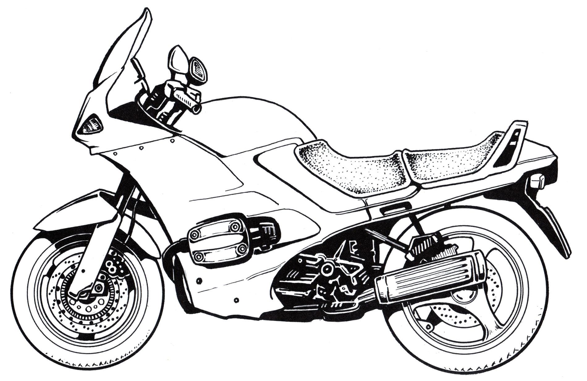 Раскраска Дорожный мотоцикл BMW | Раскраски мотоциклы