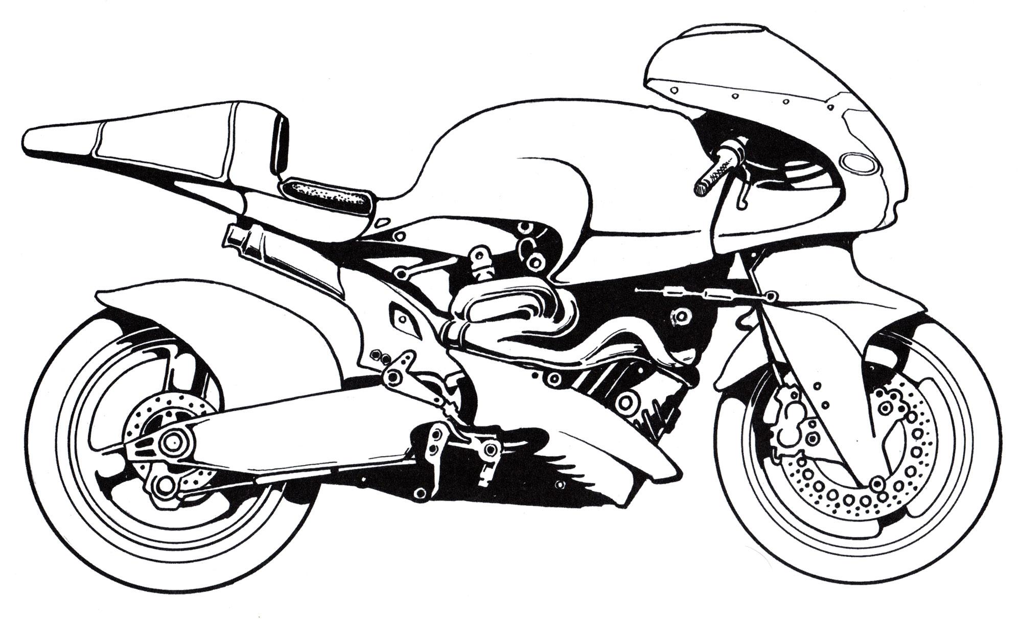 Раскраска Мотоцикл Britten | Раскраски мотоциклы