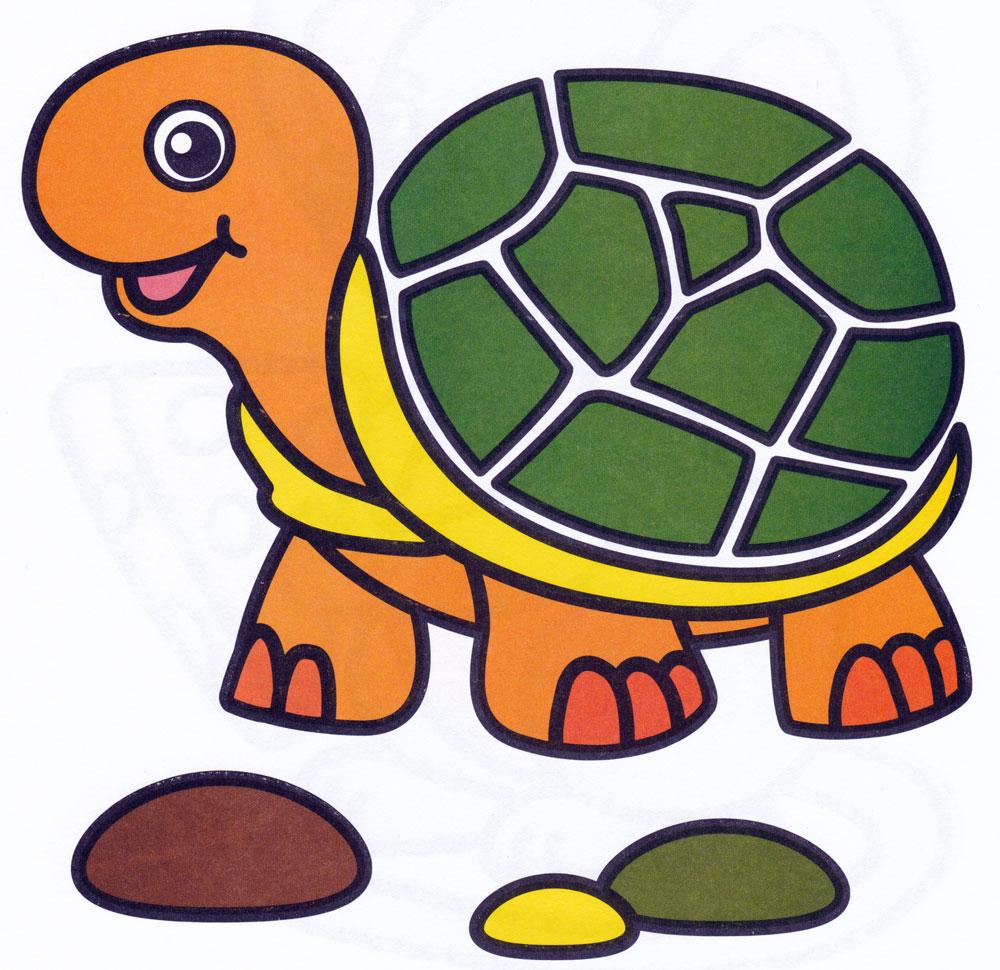 Раскраска Радостная черепаха - распечатать бесплатно