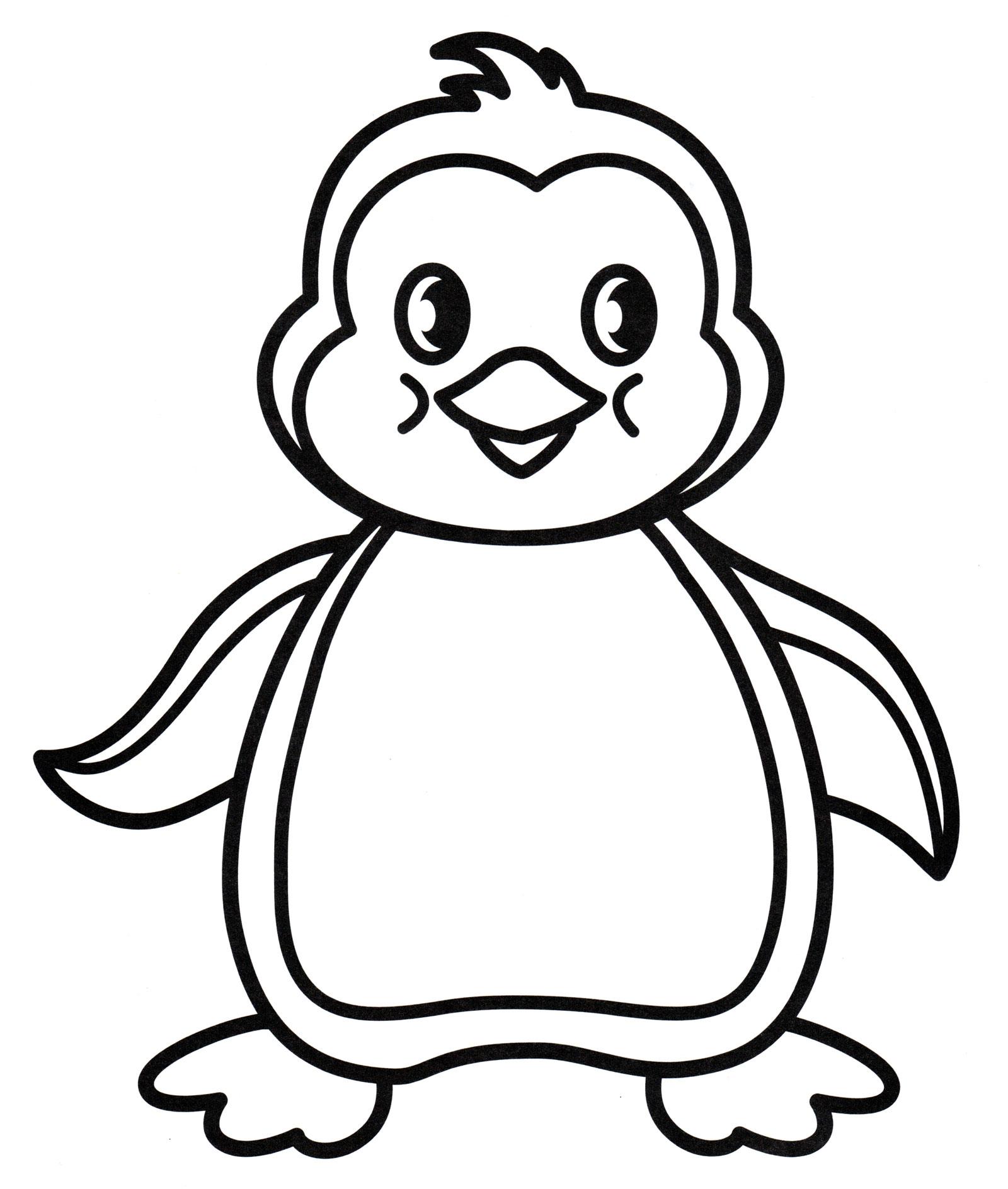 Раскраска Малыш пингвиненок - распечатать бесплатно