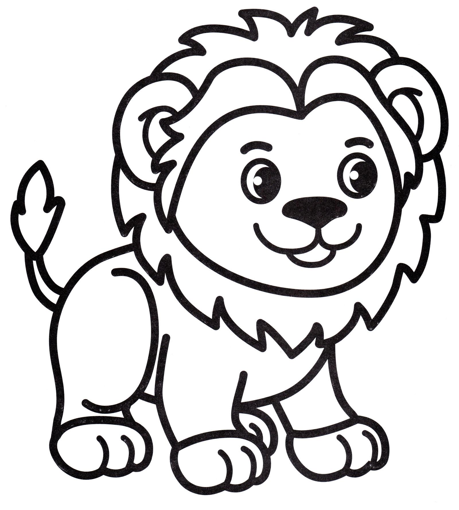 Раскраска Малыш львенок - распечатать бесплатно