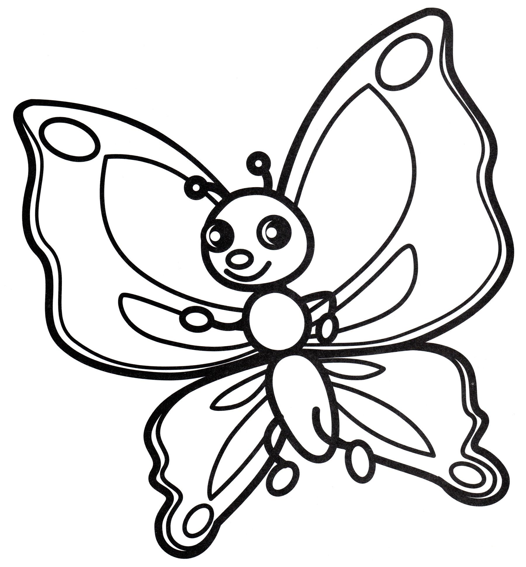 Раскраски картинок бабочек