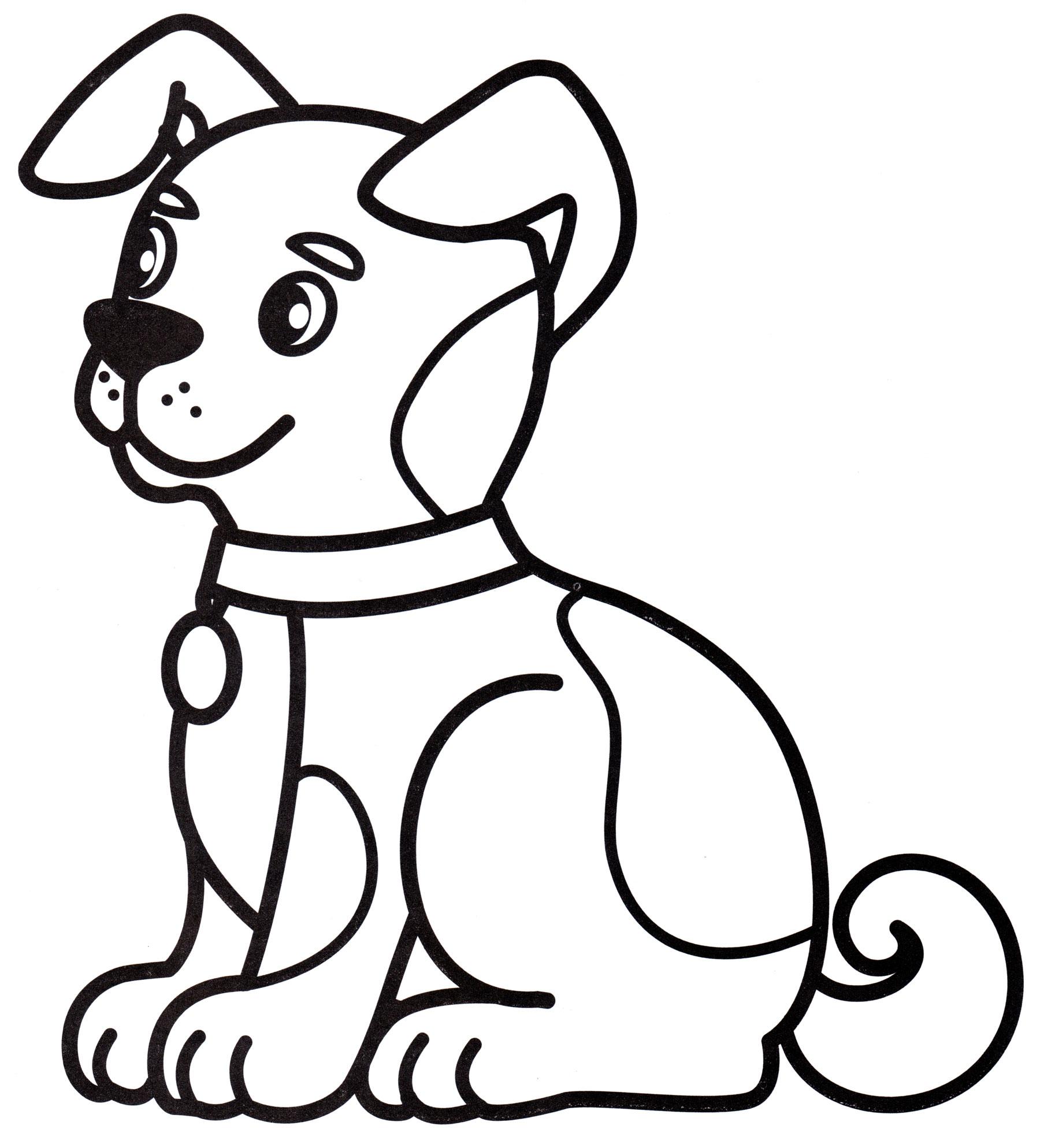 Раскраска Домашний пес - распечатать бесплатно