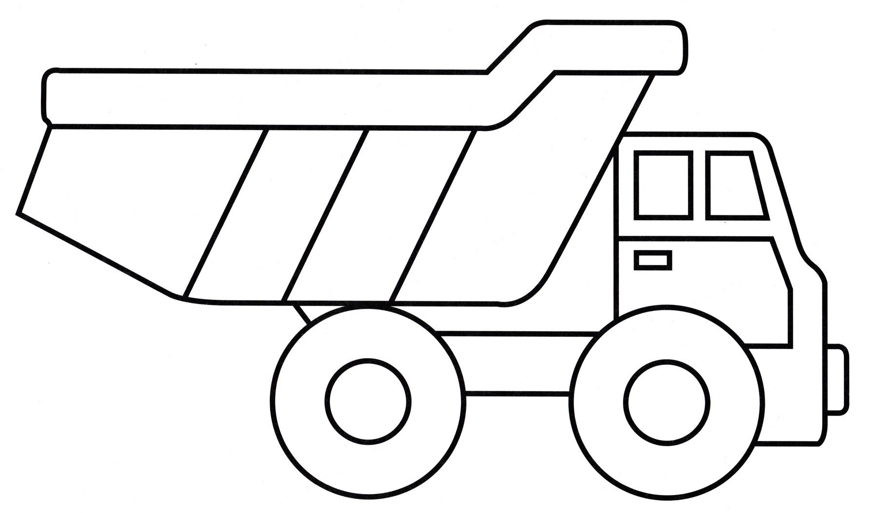 Раскраска Игрушечный грузовик - распечатать бесплатно