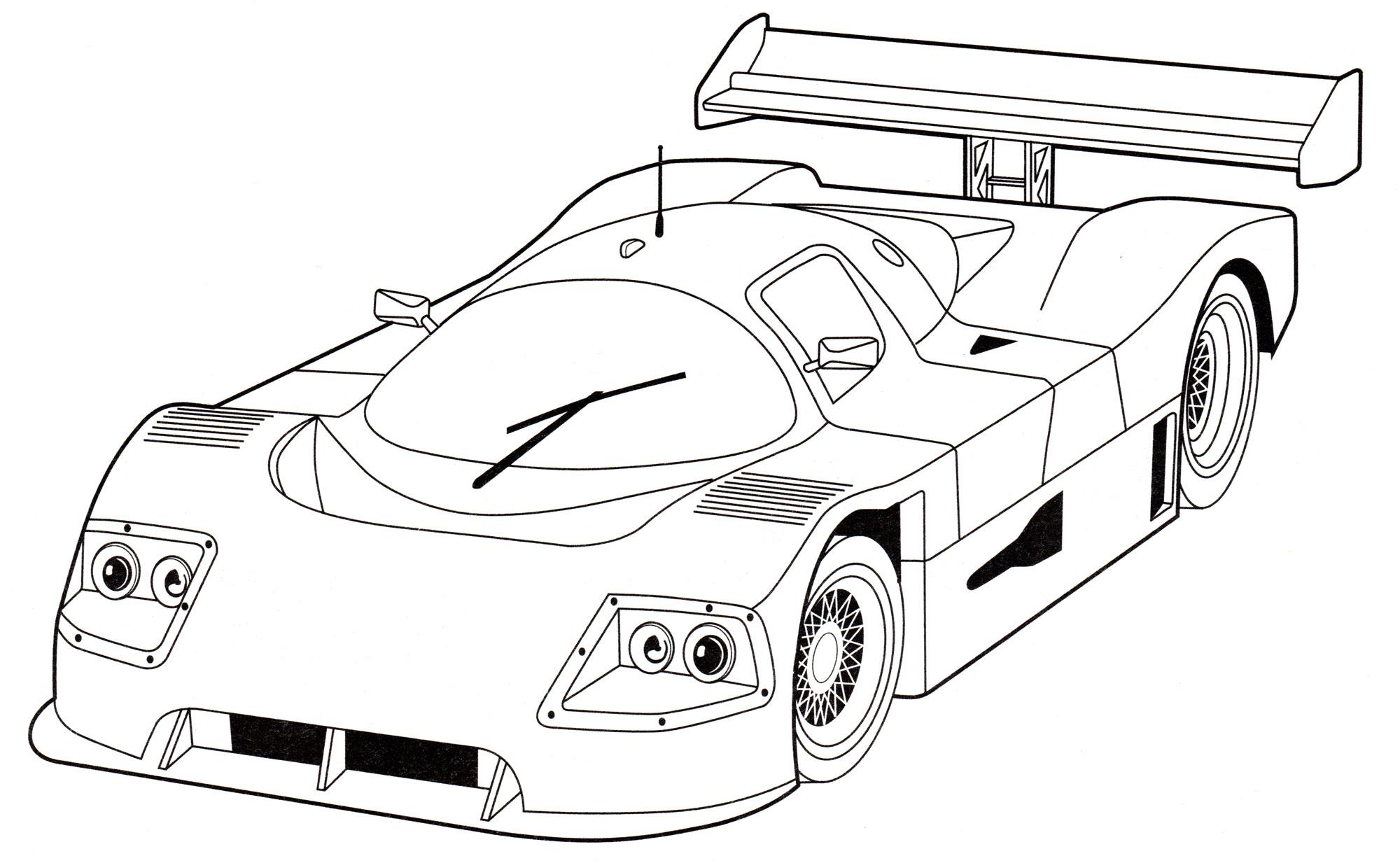 Раскраска Sauber Mercedes C9 - распечатать бесплатно