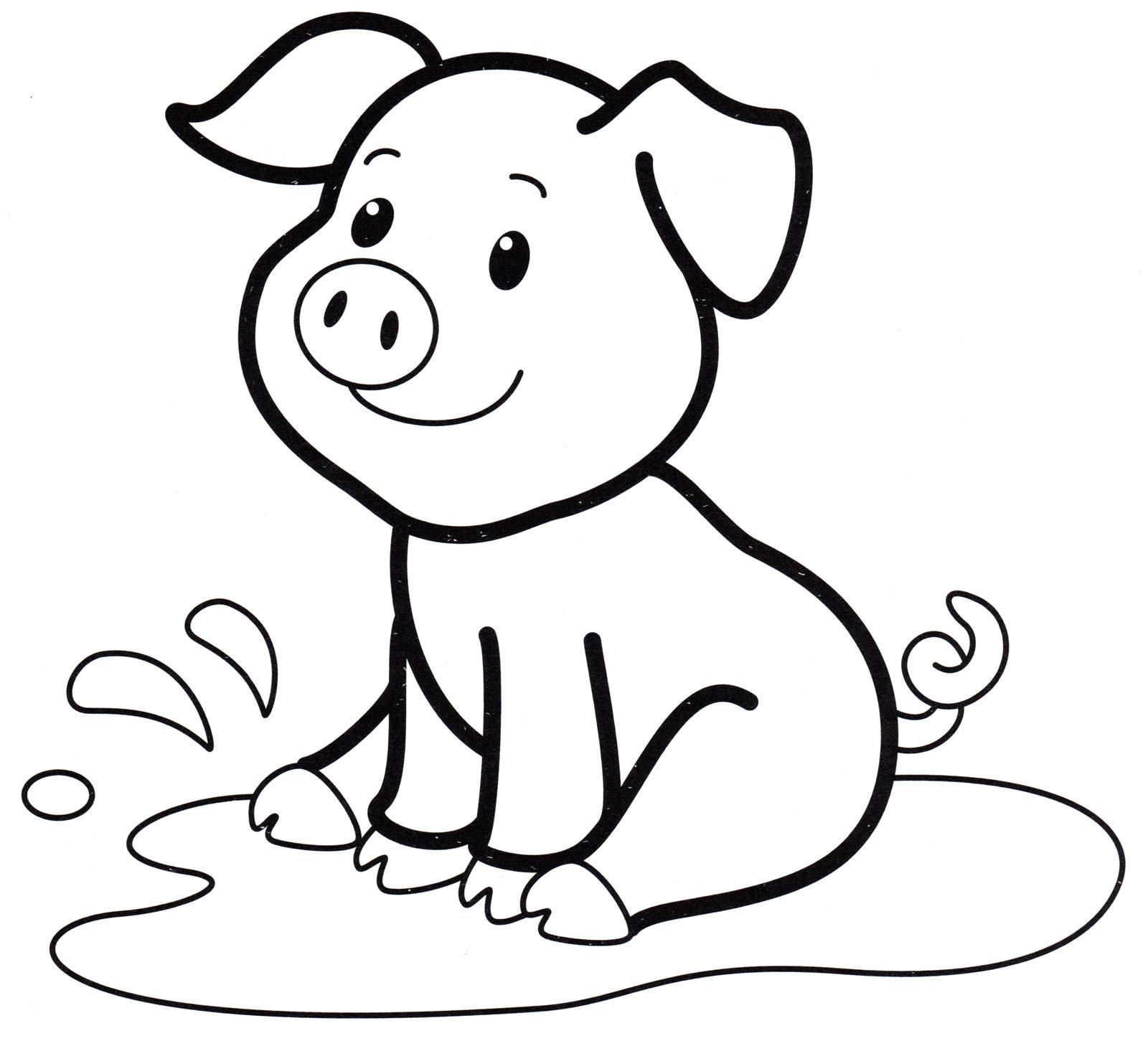 Распечатать раскраски свиньи