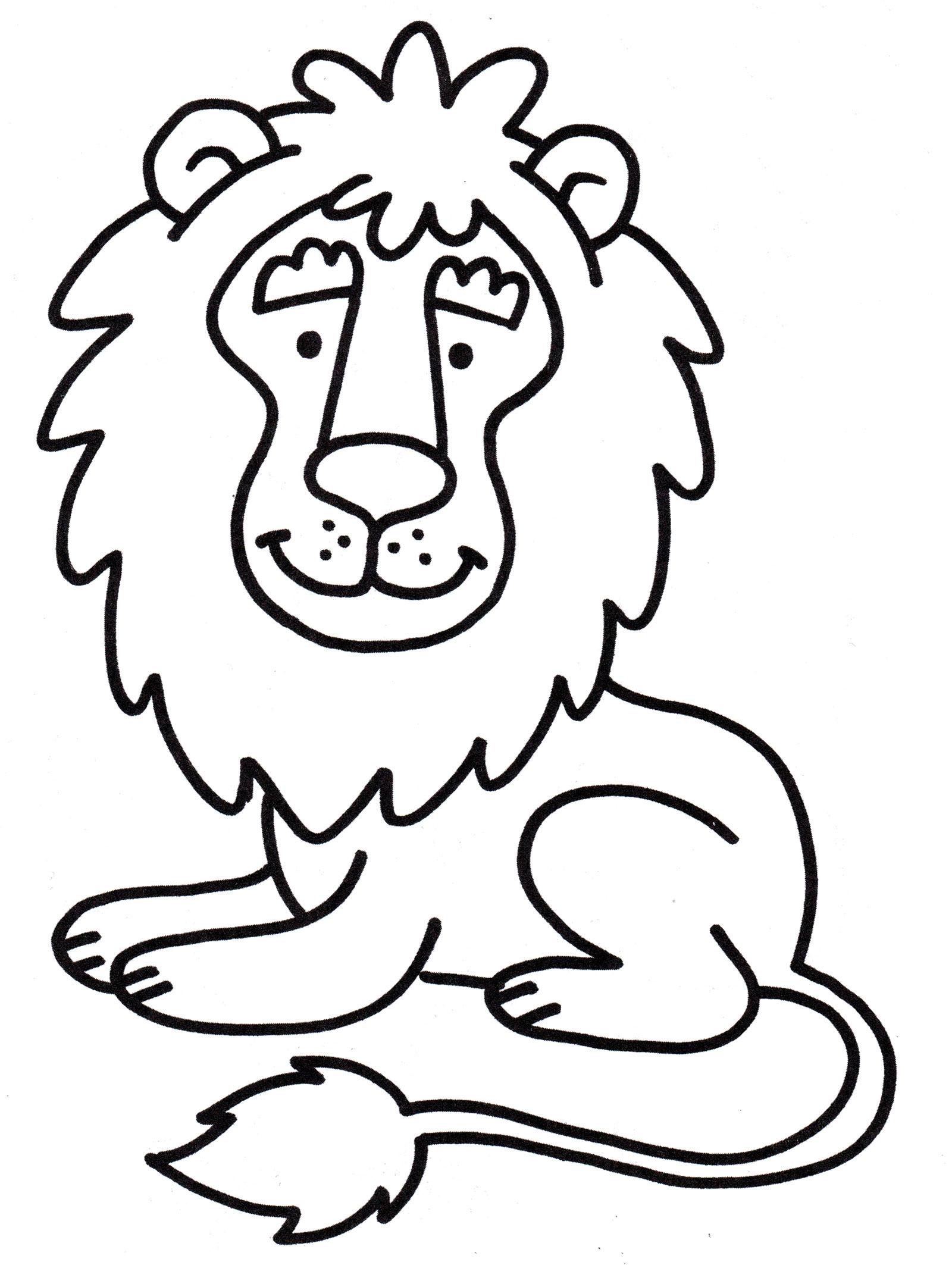 Раскраска Милый лев - распечатать бесплатно