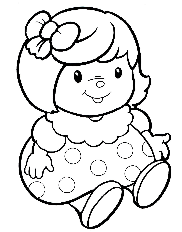 Раскраска Кукла Таня - распечатать бесплатно