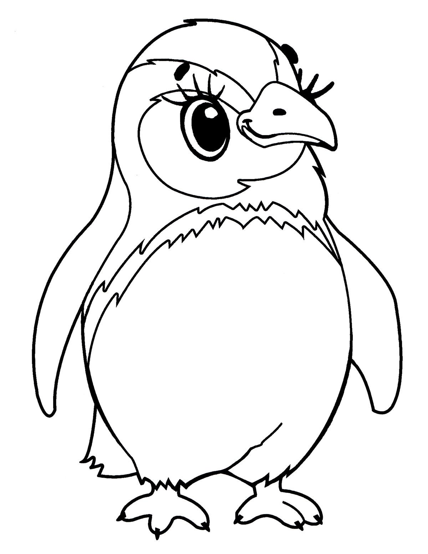 Раскраска Птичка - распечатать бесплатно