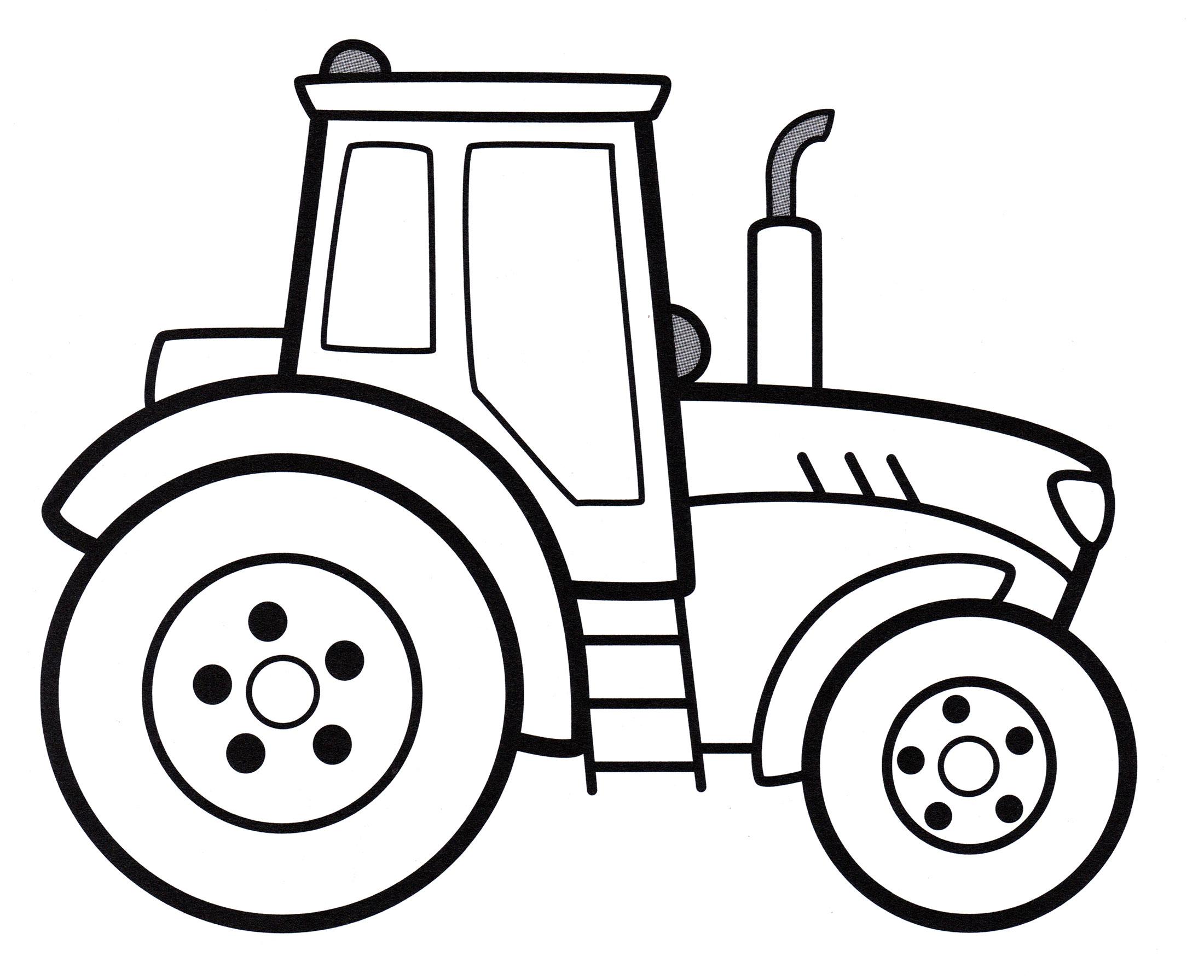 Трактор Разукрашка Для Малышей