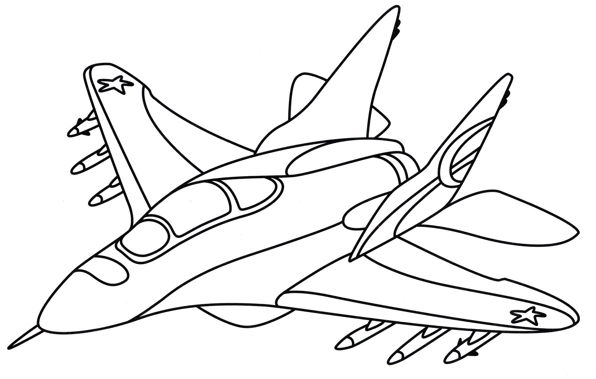 Раскраска Маленький истребитель - распечатать бесплатно